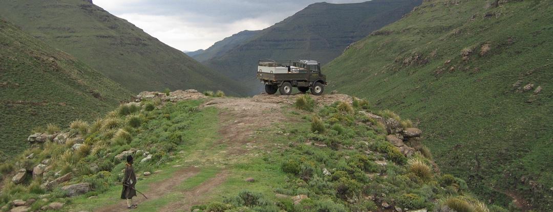 Unimog U1300L in Lesthoto